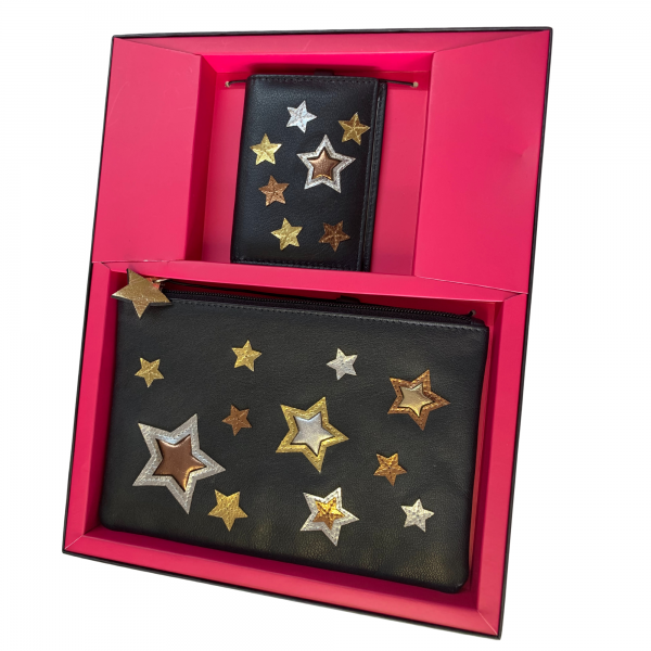 leather star purse giftset