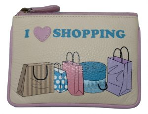 shopping leather purse