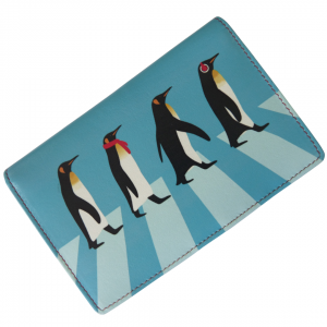 leather penguin rfid purse