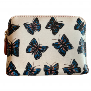 butterfly leather coin purse