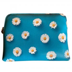 daisy leather purse