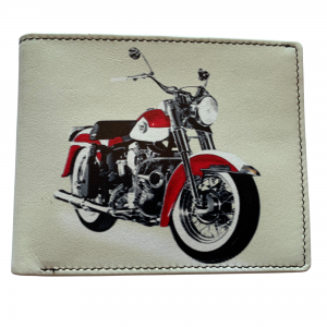 motorbike leather wallet