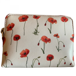 poppies leather coin purse