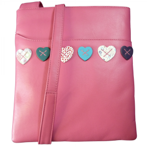 hearts crossbody ladies bag