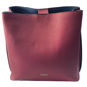large red handbag