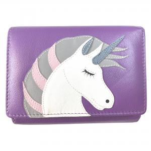 leather unicorn purse