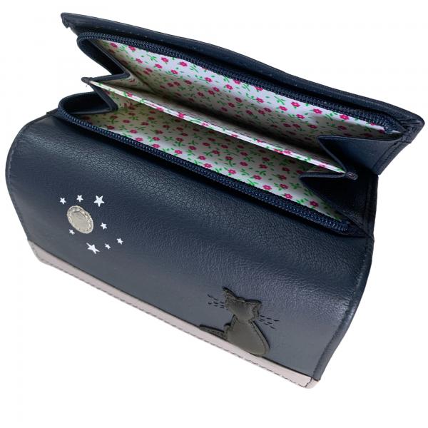 cat purse leather