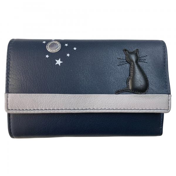 mala leather cat trifold purse