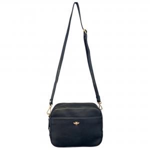 leather bee crossbody bag